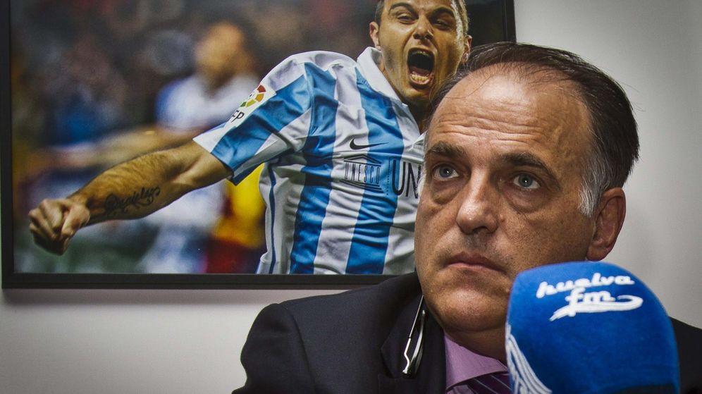 Foto: Javier Tebas, presidente de la Liga de Fútbol Profesional (Efe).
