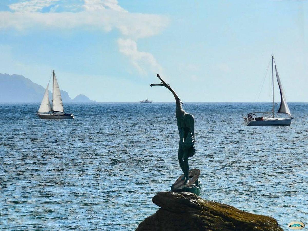 Foto: Nada como ver el mar en otoño-invierno, este es el de Sanxenxo. (Cortesía Turismo Rías Baixas)