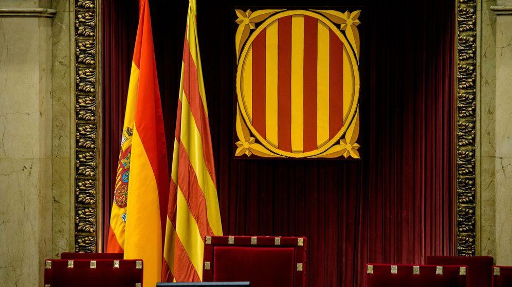 Foto: Vista del sillón del presidente del Parlament de Cataluña. (EFE)