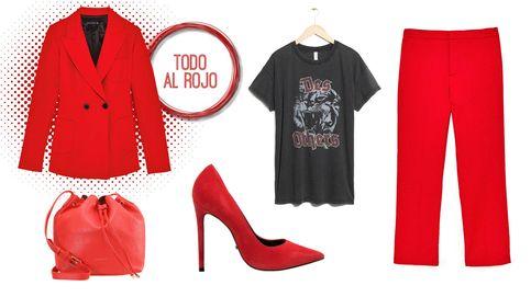 Un traje de chaqueta rojo y cuatro formas de llevarlo que rozan la perfección