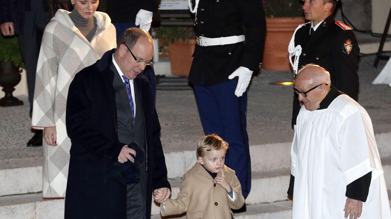 Alberto y Charlène, con su hijo Jacques. (EFE)