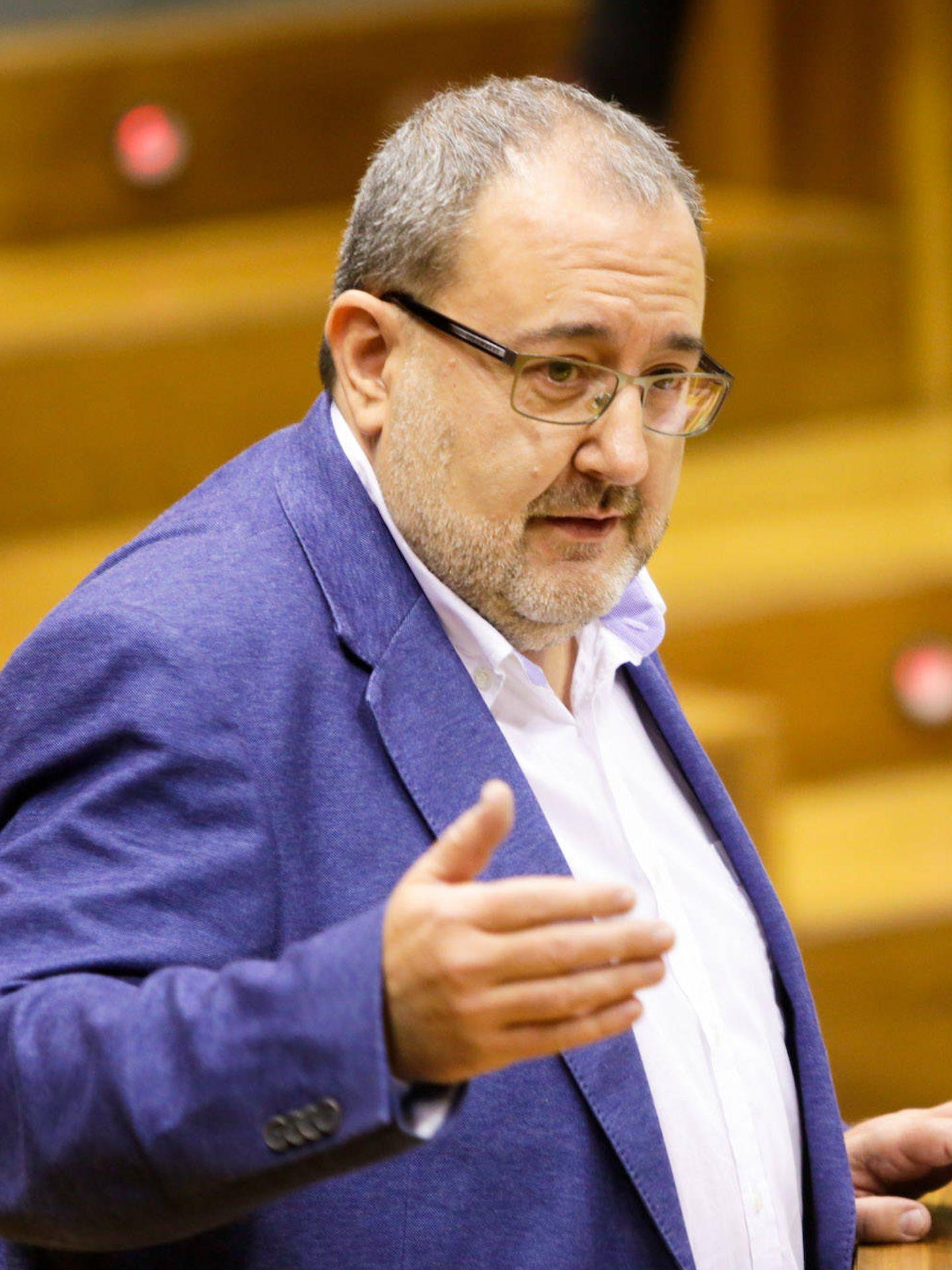 El portavoz de Izquierda Ezkerra en el Parlamento de Navarra, José Miguel Nuin. (EC)