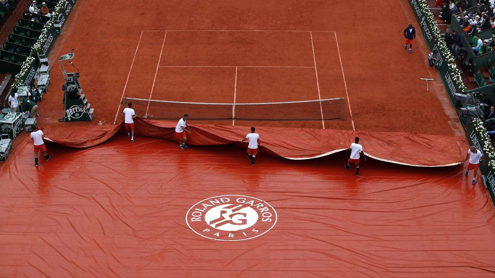 Foto: Roland Garros, bajo la lluvia (Reuters)