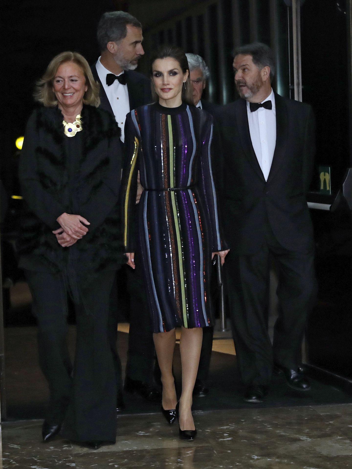 La reina Letizia, en 2016 con el vestido de Nina Ricci más comentado. (EFE)