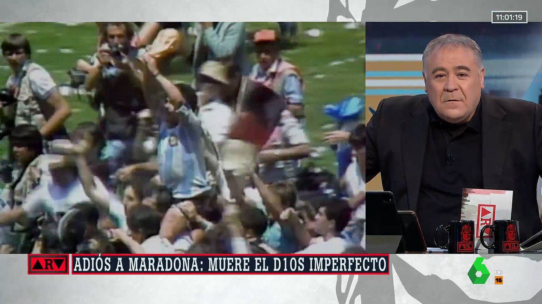 Ferreras, hablando de Diego Armando Maradona. (Atresmedia)