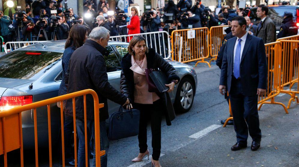 Foto: La presidenta del Parlament, Carme Forcadell, a su llegada al Tribunal Supremo el pasado jueves. (Reuters)