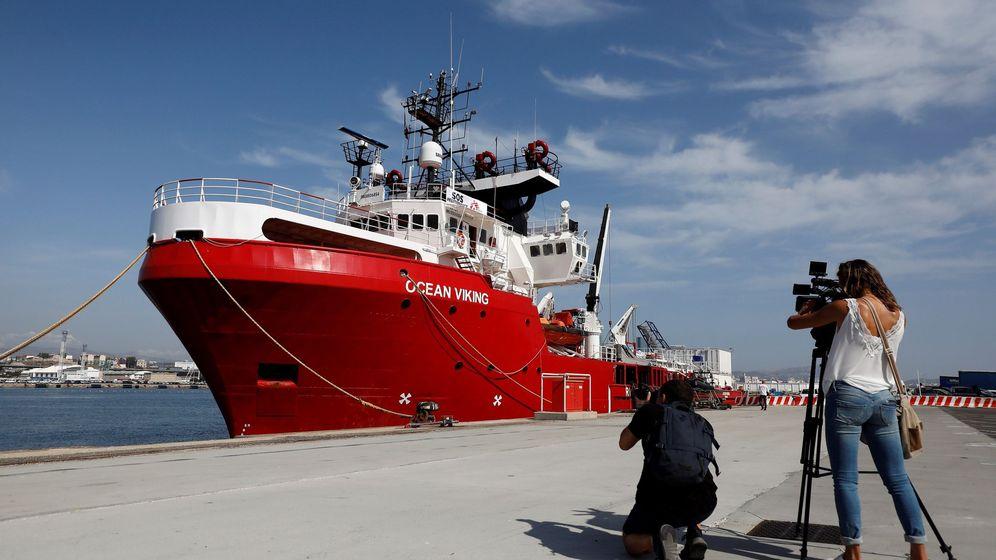 Foto: El buque de rescate Ocean Viking. (Reuters)