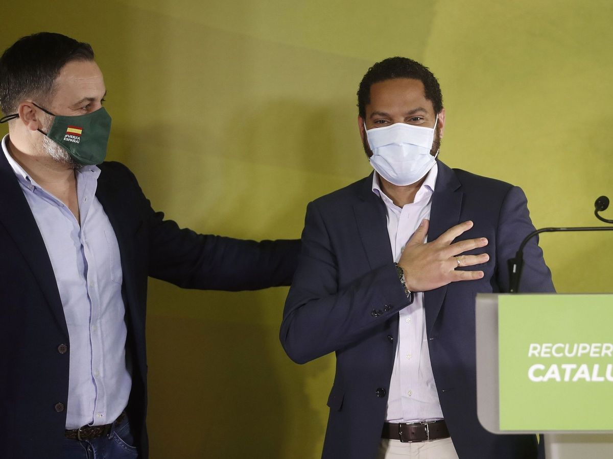 Foto: Santiago Abascal e Ignacio Garriga. (EFE)
