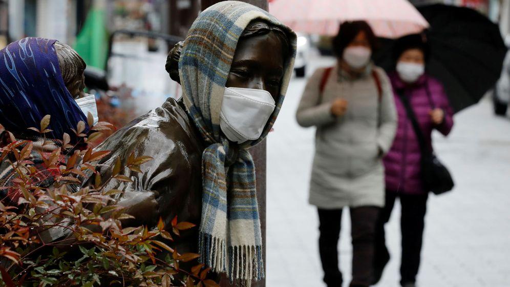 Foto: Mujeres paseando con mascarillas en Corea del Sur. Foto: REUTERS Kim Kyung-Hoon