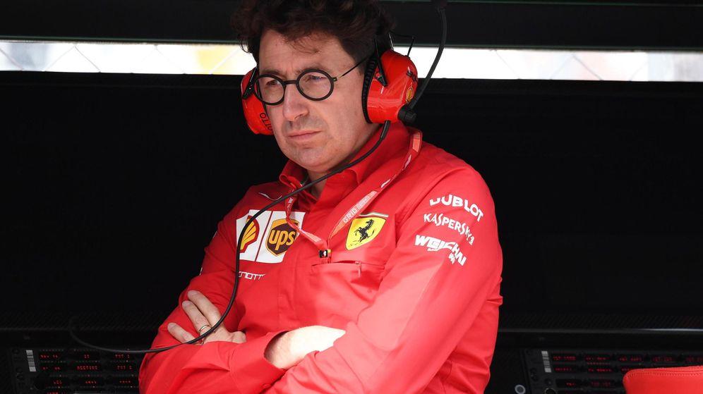 Foto: Mattia Binotto durante el Gran Premio de Italia de la temporada pasada. (EFE)