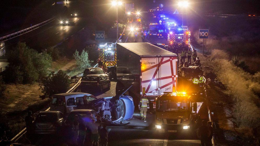 Foto: Imagen del accidente. (EFE)