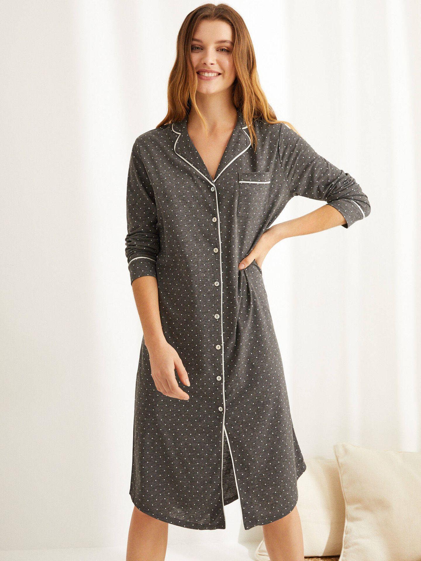 Pijama camisero de Women Secret. (Cortesía)