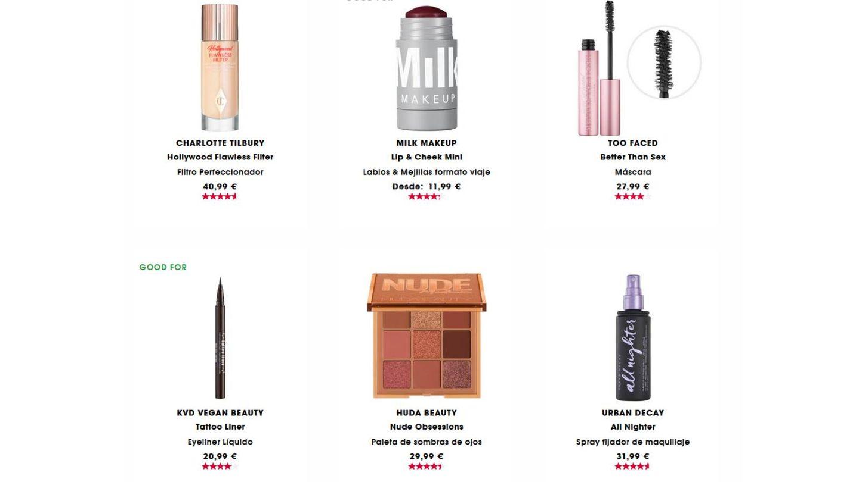 Top ventas de Sephora.