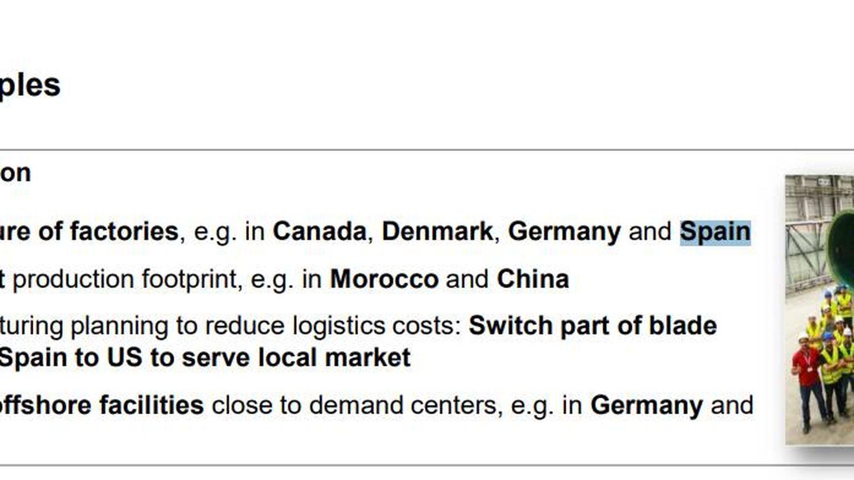 Extracto del plan estratégico de Siemens Gamesa. (Fuente: CNMV)