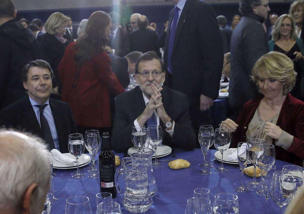 Foto: Ignacio González, Mariano Rajoy y Esperanza Aguirre (EFE)