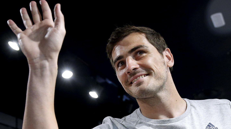 Casillas, durante un acto publicitario este lunes en Madrid (EFE)