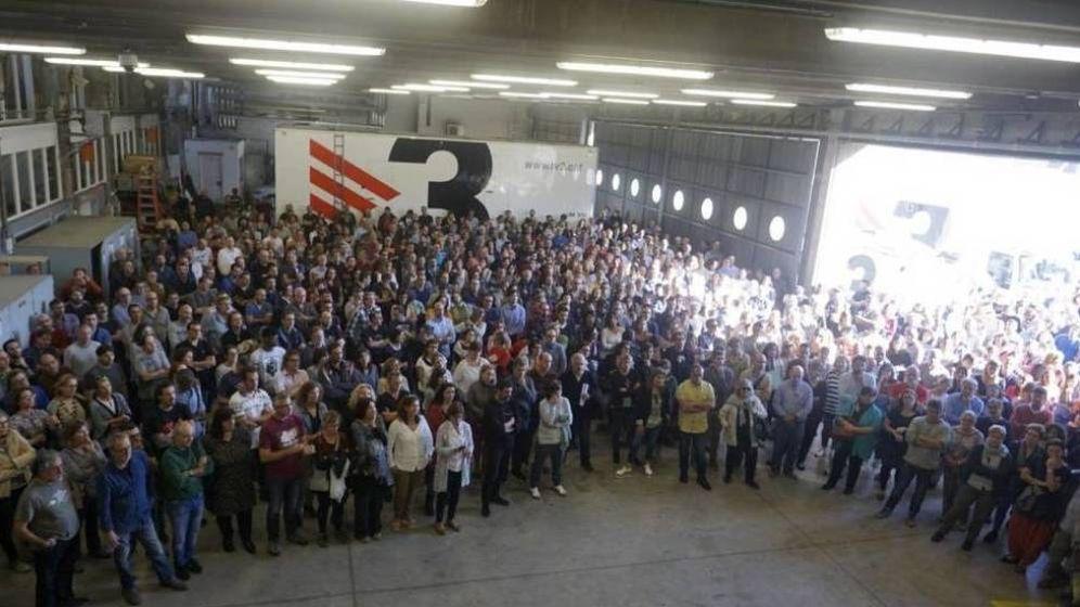 Foto: Los medios públicos catalanes piden en el Senado que se rechace la intervención.