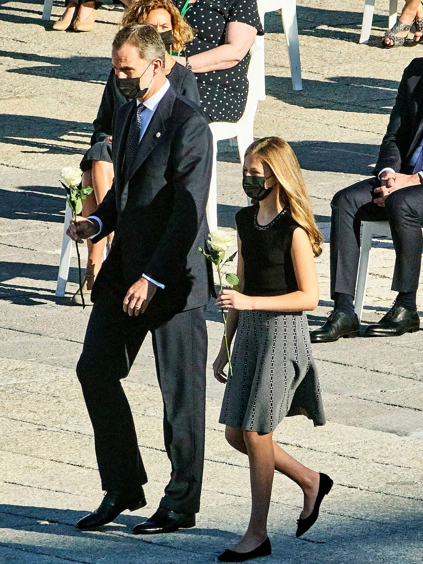 El rey Felipe y Leonor, en el acto de Estado por las víctimas de covid. (Limited Pictures)