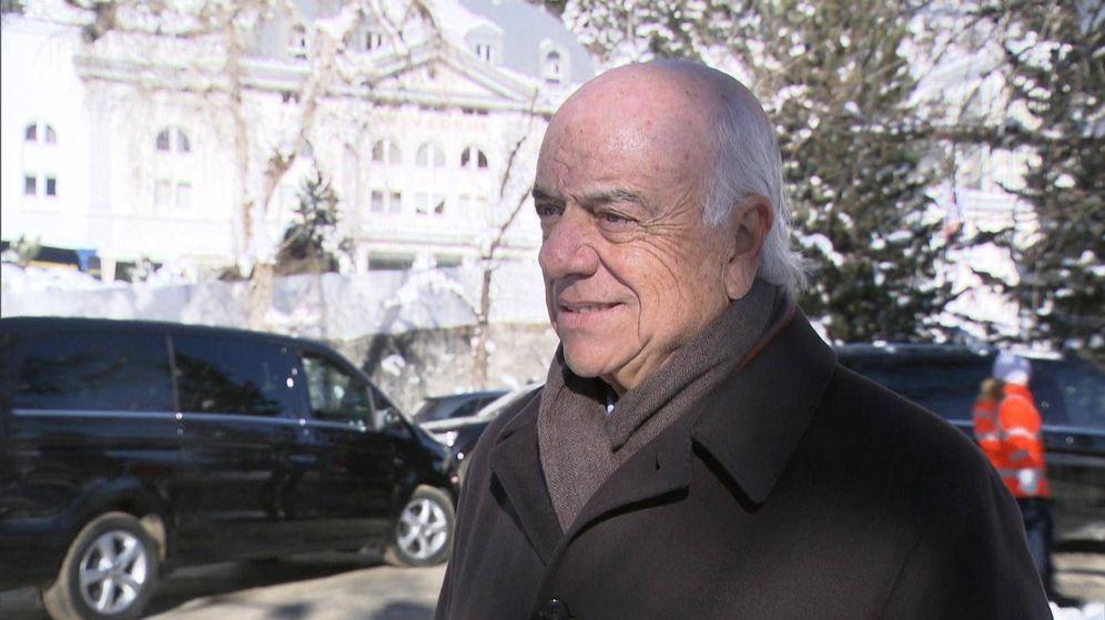 Foto: Francisco González, presidente del BBVA, en la cumbre de Davos.