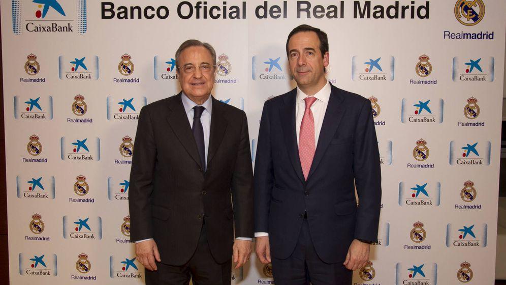 Foto: Gortázar y Florentino Pérez en el acto de este jeuves (Foto: CaixaBank)