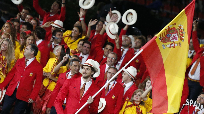 Pau Gasol, en la ceremonia inaugural de los Juegos de Londres (EFE).