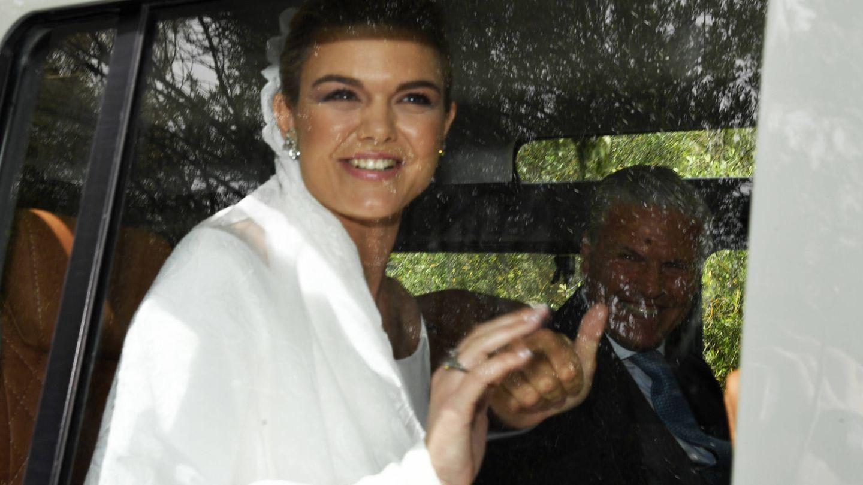 Alejandra Ruiz Rato a su llegada a su boda con Ernesto de Novales. (Gtres)