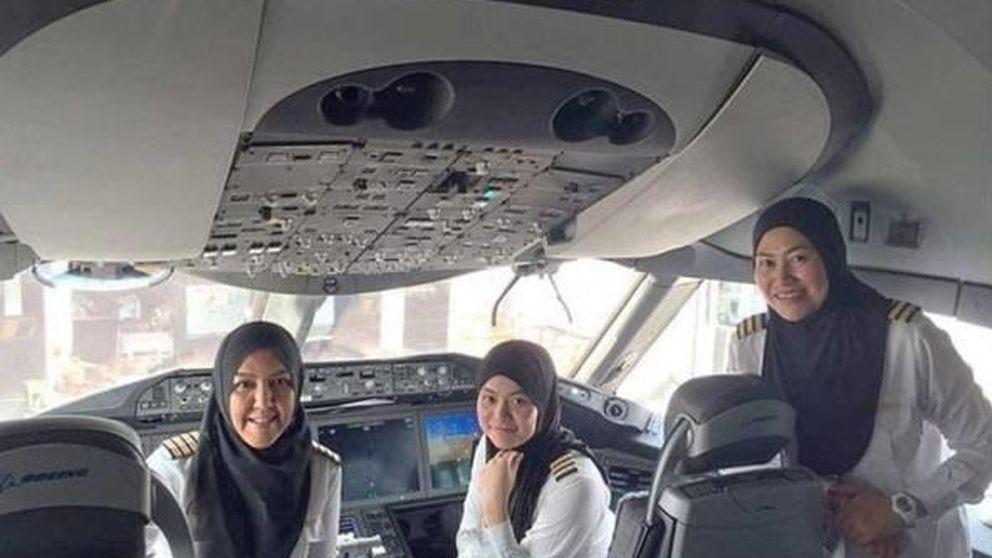 La conquista de estas tres mujeres en Arabia Saudí: no pueden conducir pero sí pilotar
