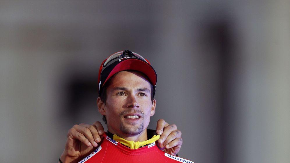 Foto: Roglic, con el maillot rojo como campeón de la Vuelta a España. (EFE)
