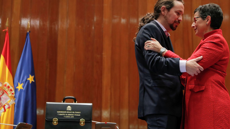 Pablo Iglesias y Arancha González Laya. REUTERS