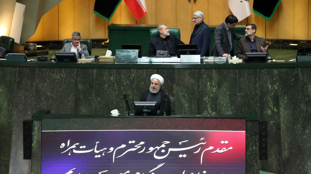 Foto: El presidente iraní habla al Parlamento. (EFE)