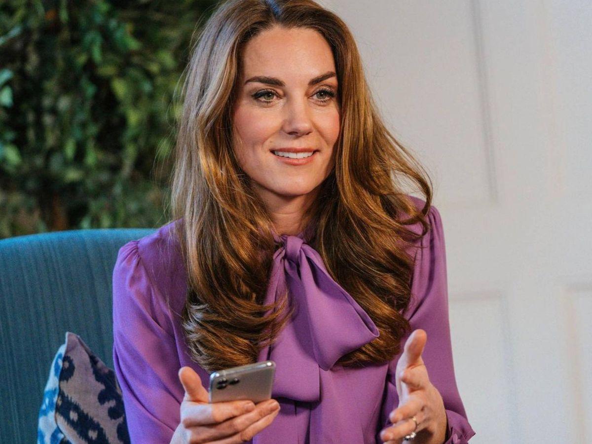 Foto: Kate Middleton, con la blusa en cuestión. (Instagram @kensingtonroyal)