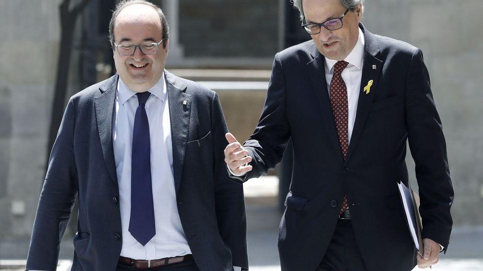 Foto: El presidente de la Generalitat, Quim Torra, y el primer secretario del PSC, Miquel Iceta. (EFE)