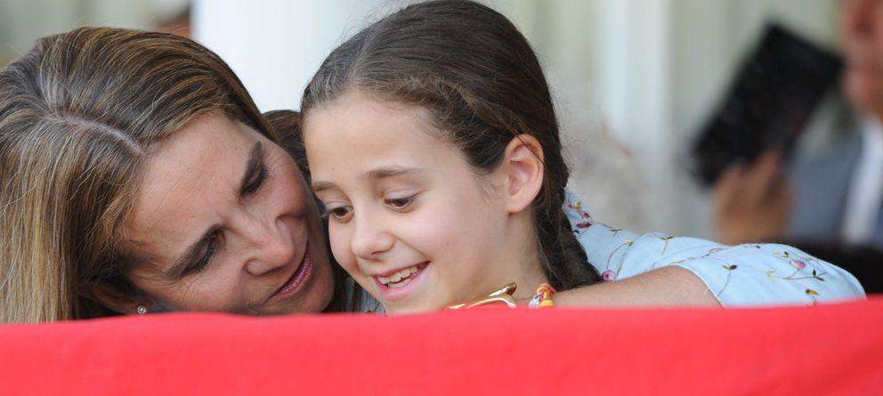 Foto: La infanta Elena y Victoria Federica, en una imagen de archivo (Gtres)