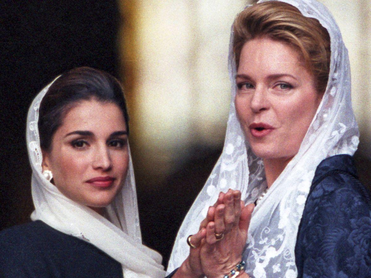 Foto: La reina Rania y la reina Noor. (Getty)