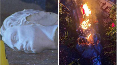 Manifestantes contra el racismo en EEUU decapitan a Colón: Representa el genocidio