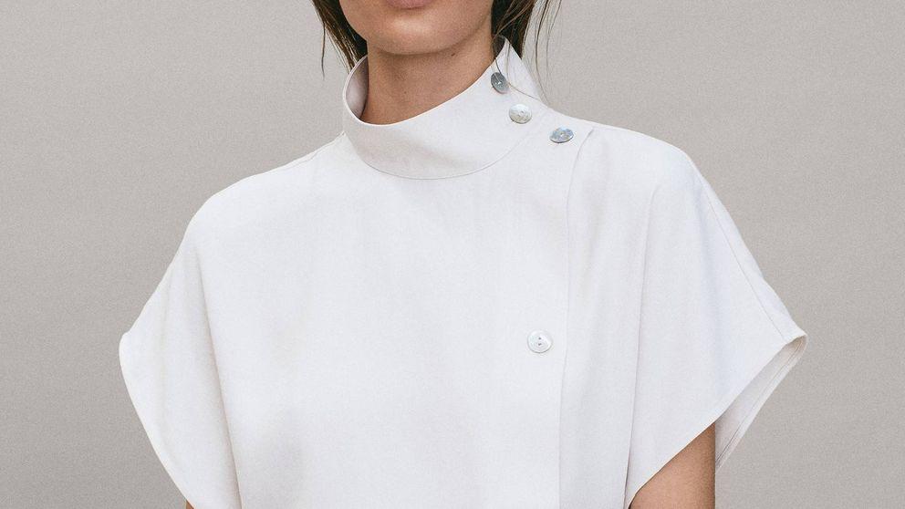 Cuello alto con Massimo Dutti este verano con esta camisa ultrasofisticada