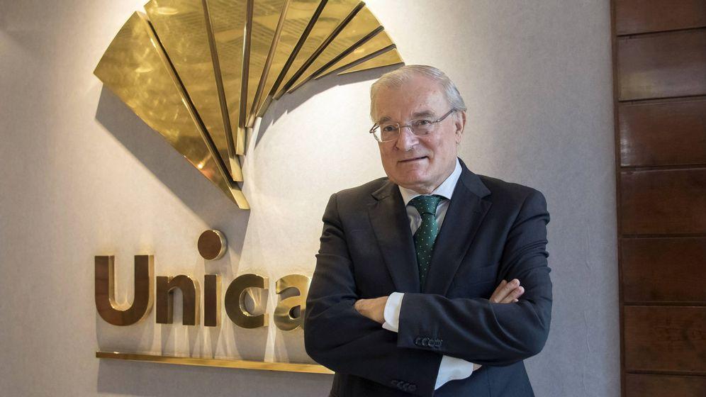 Foto: El presidente de Unicaja, Manuel Azuaga. (EFE)