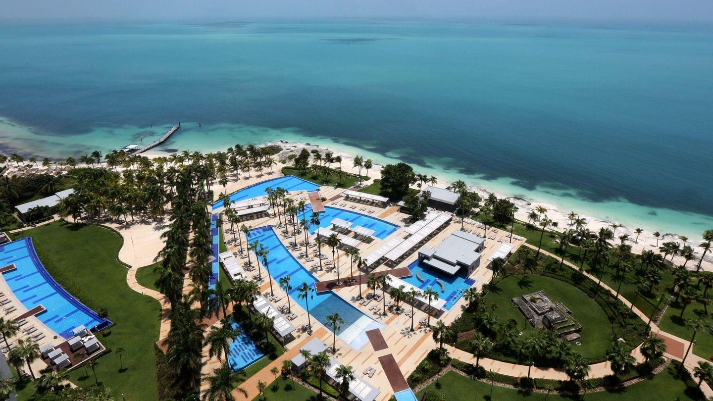 Vista desde una habitación del Hotel RIU Palace Península, en Cancún Quintana Roo. (México)