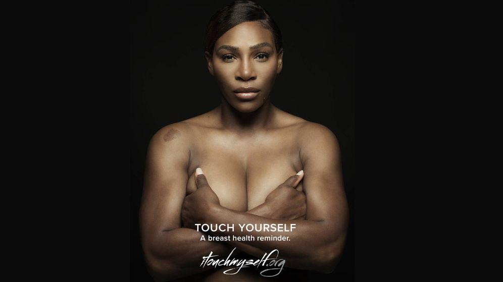Foto: Serena en la campaña de Touchmyself.org. (Cortesía)