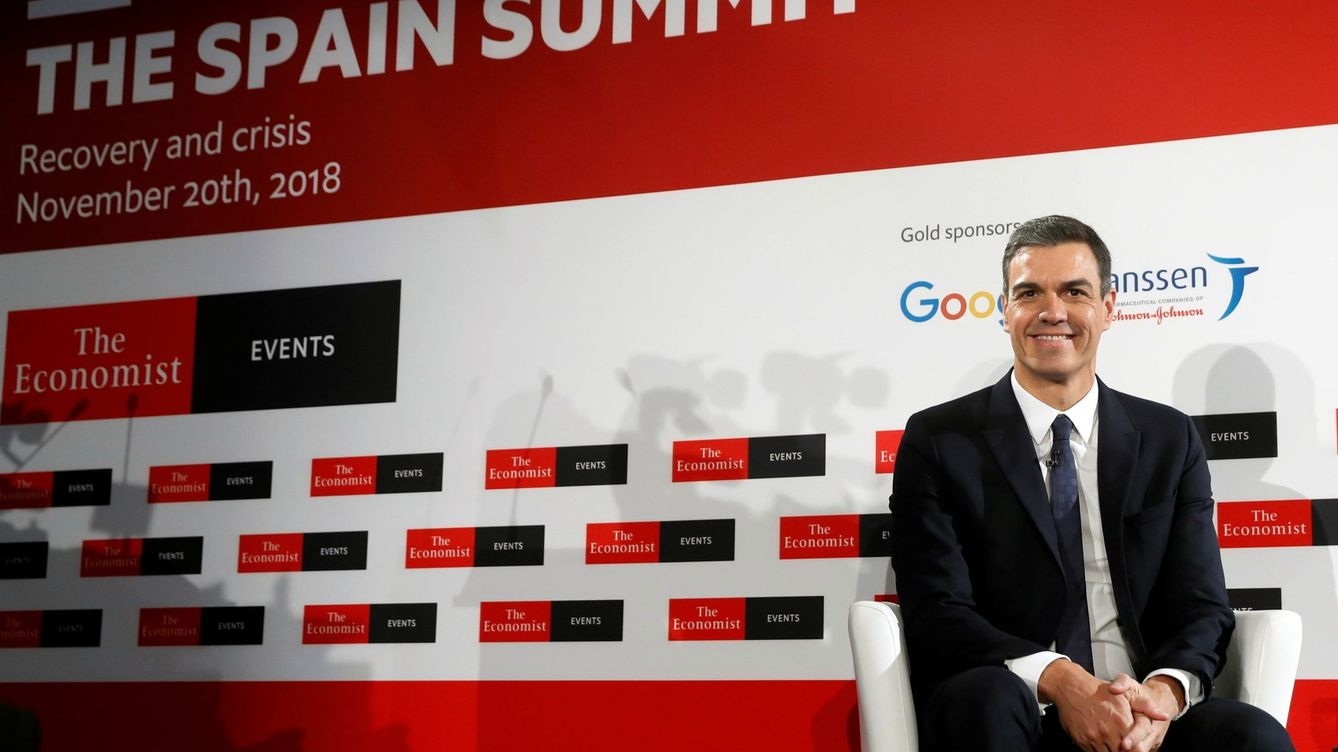 Foto: El presidente del Gobierno, Pedro Sánchez, en 'The Spain Summit' (Efe)