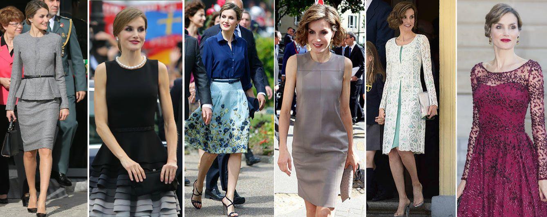 Foto: La Reina Letizia con algunos de los estilismos que ha lucido este año