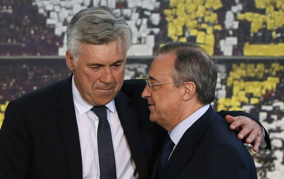 Foto: En la imagen, Carlo Ancelotti y Florentino Pérez. (EFE)