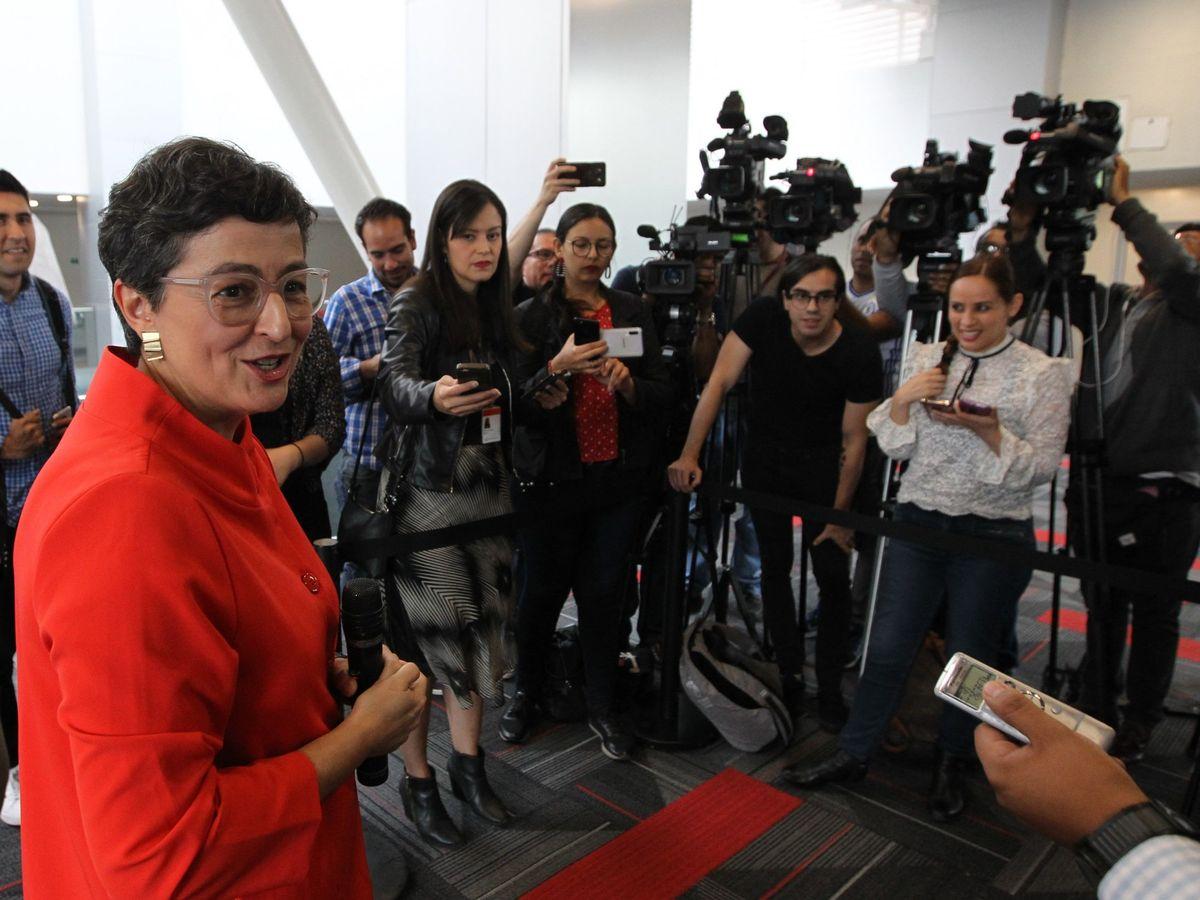 Foto: Arancha González Laya, próxima ministra de Exteriores, el pasado 31 de mayo en Ciudad de México. (EFE)