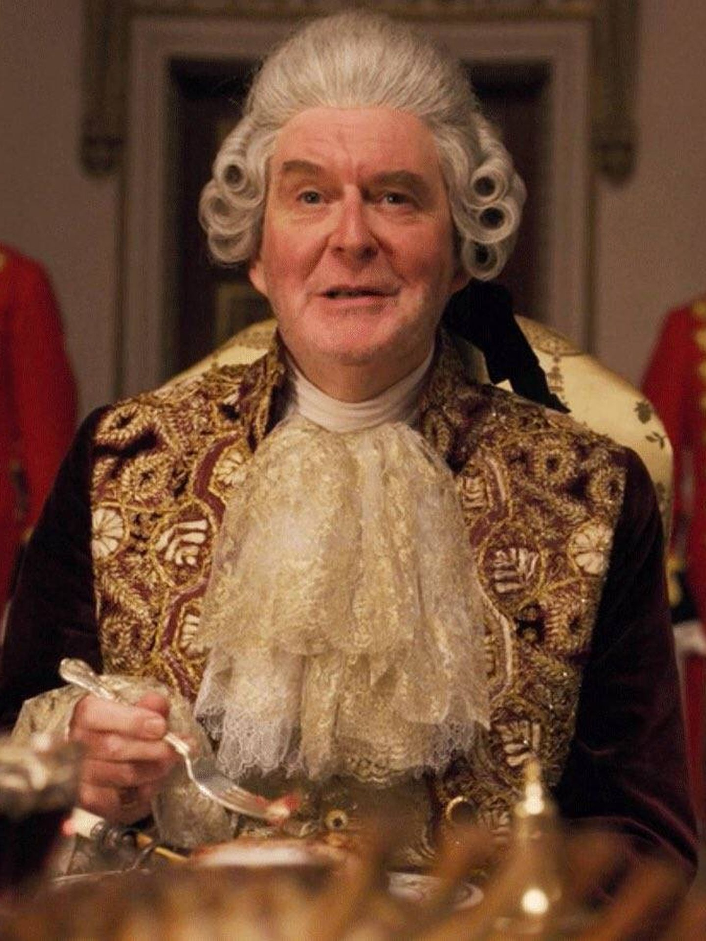 El rey Jorge III, interpretado por James Fleet. (Netflix)