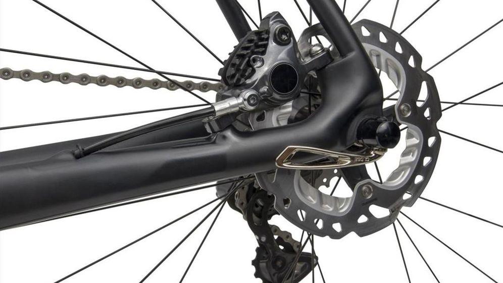 Foto: Un disco de freno montado en una bicicleta