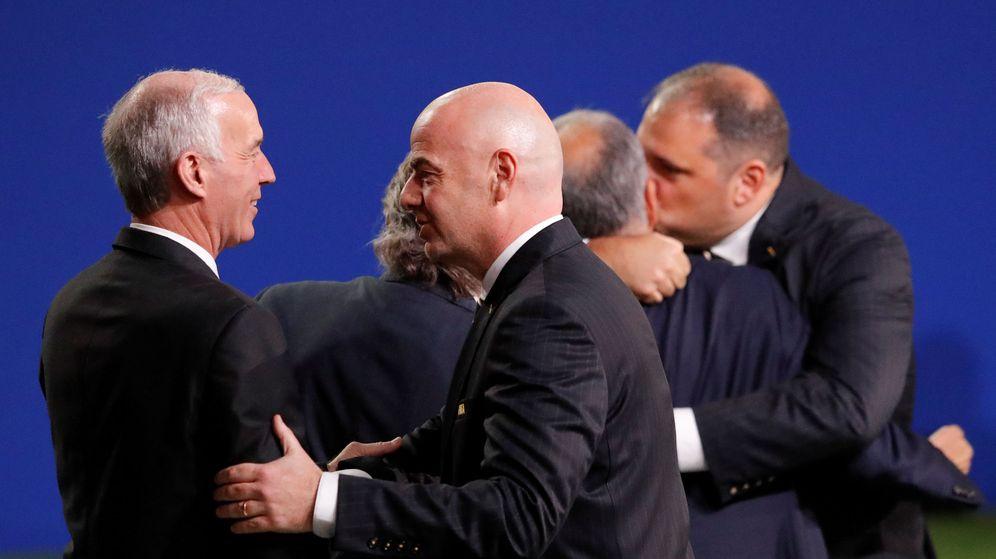 Foto: El presidente de la FIFA, durante el 68º Congreso | Reuters