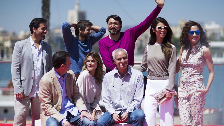El equipo de 'Tiempo sin aire' presenta el filme en el Festival de Málaga (EFE)