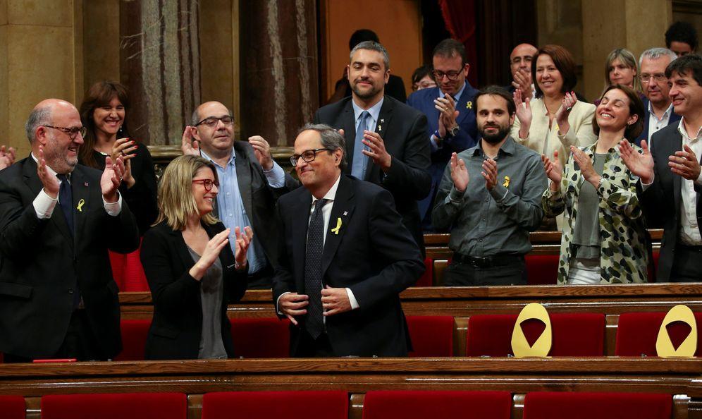 Foto: Quim Torra, tras ser elegido 'president' de la Generalitat, este lunes en el Parlament. (Reuters)
