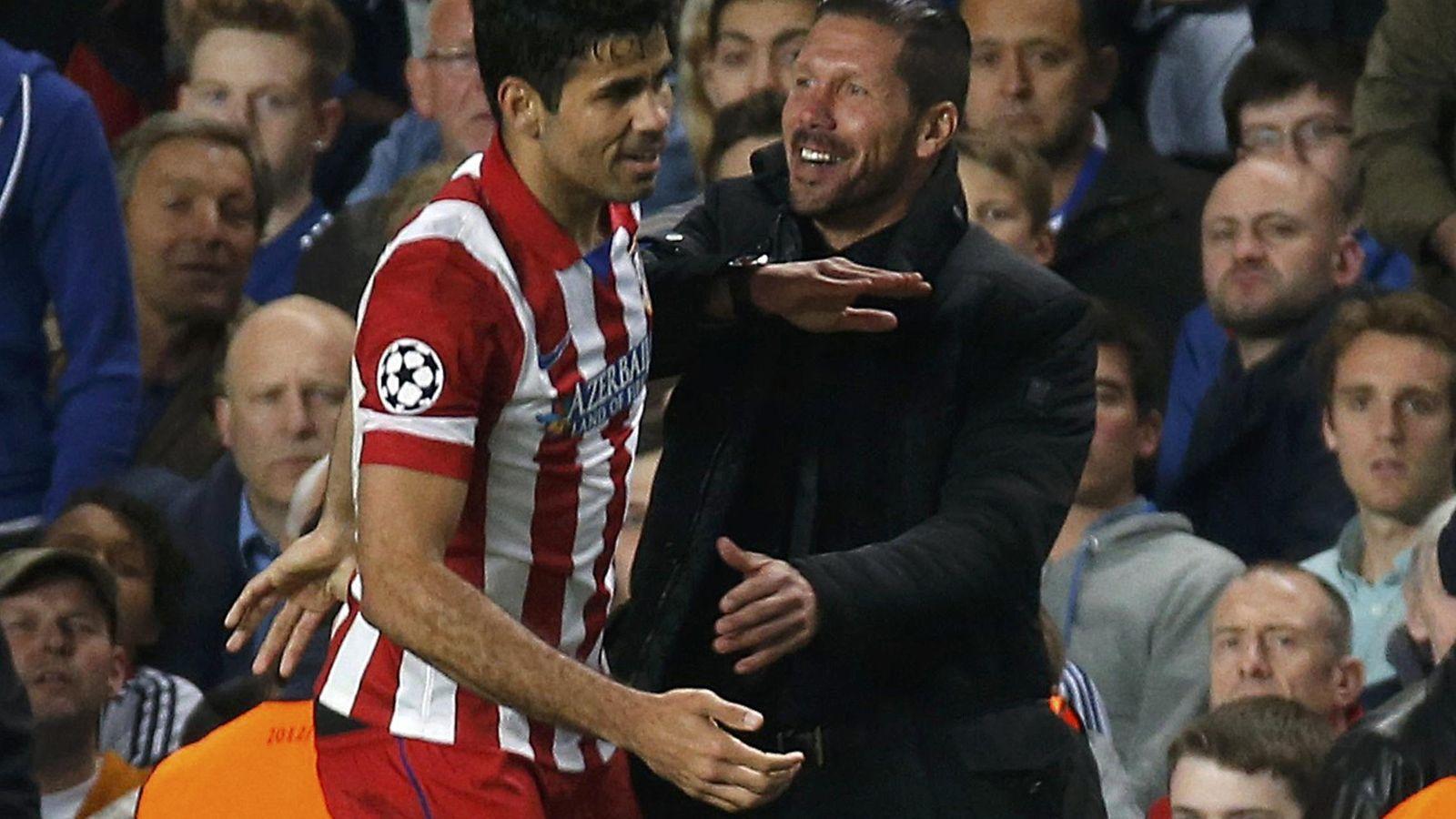 Foto: Simeone añora a Diego Costa desde que el delantero puso rumbo al Chelsea. (Reuters)