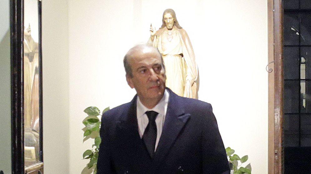 Foto:  Francis Franco, durante el funeral de Carmen Franco. (Gtres)